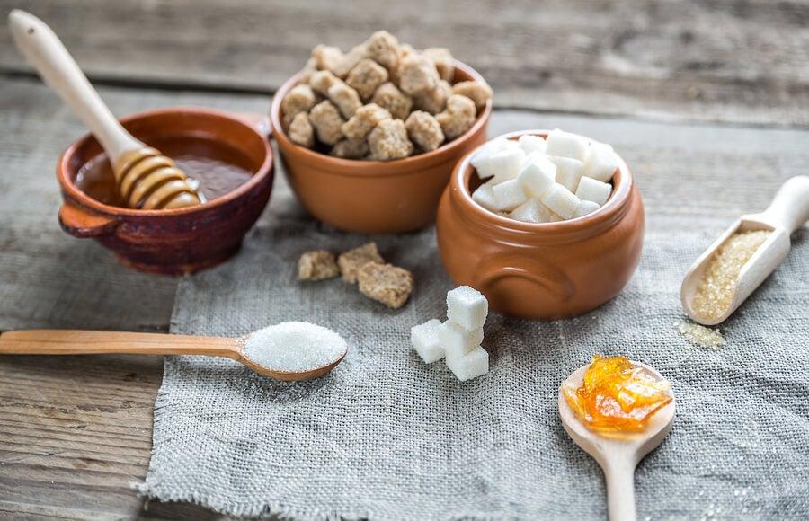 ¿Cuáles son los diferentes tipos de azúcar?