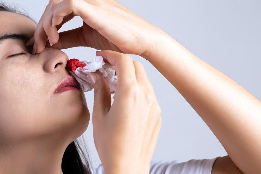 sangrado de nariz y coagulación