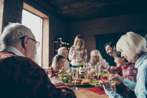Cena de Navidad en diciembre