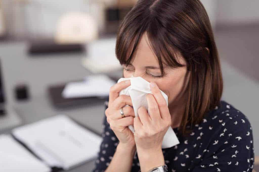 Síntomas de la gripe tratados con oscillococcinum.