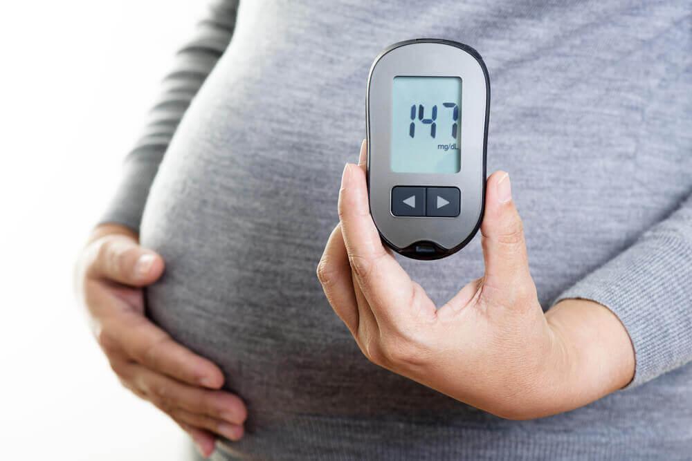 Mujer embarazada con diabetes