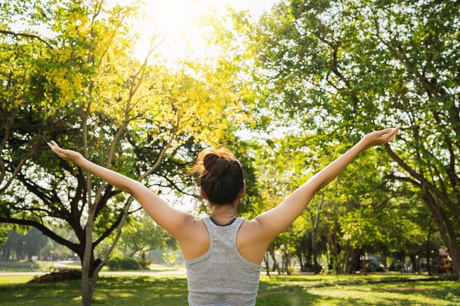 Persona al aire libre haciendo ejercicio