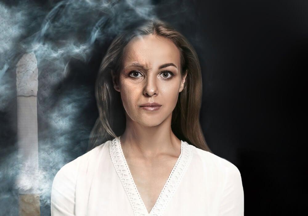 ¿Cómo el tabaco afecta la piel?