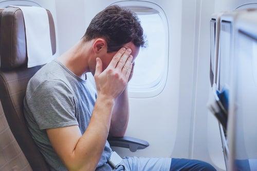 estrés y temor por los vuelos