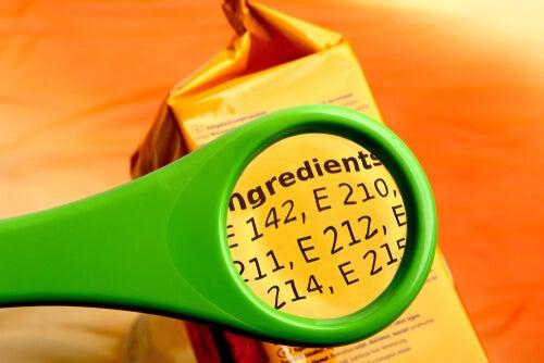 ingredientes con aditivos alimentarios