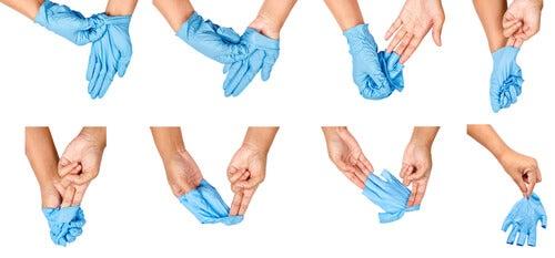 cómo ponerse y quitarse los guantes