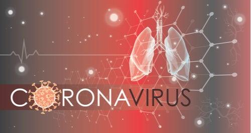 coronavirus en las células pulmonares