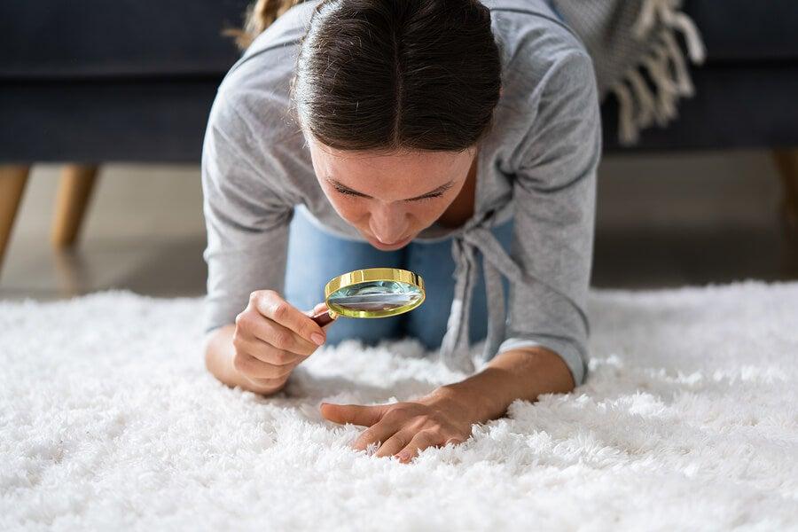 Mujer obsesionada con la limpieza.