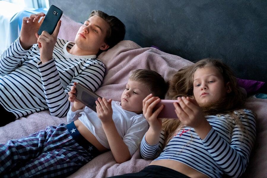 Uso de internet de los niños.