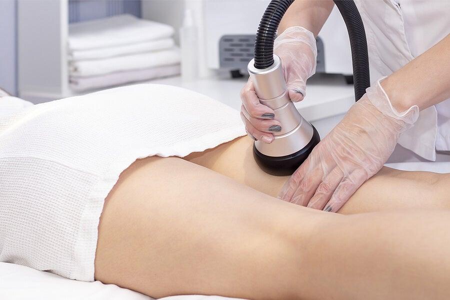 Cavitación en un tratamiento de spa.