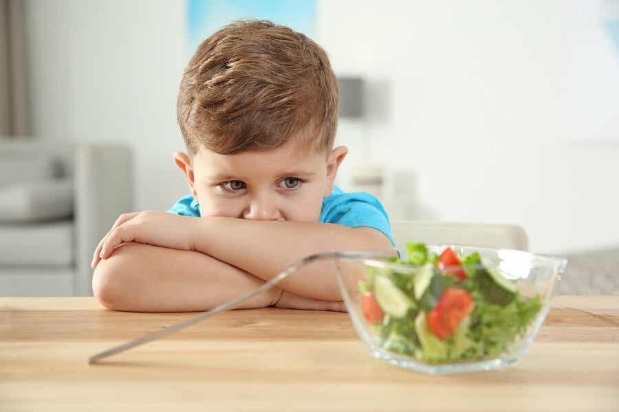 Niño no acepta dieta vegetariana.