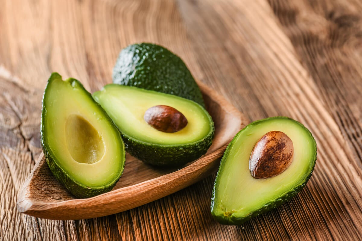 Avocados on tray