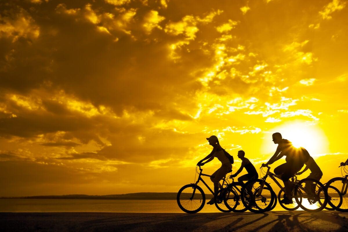 Bicicletas como ejercicio.