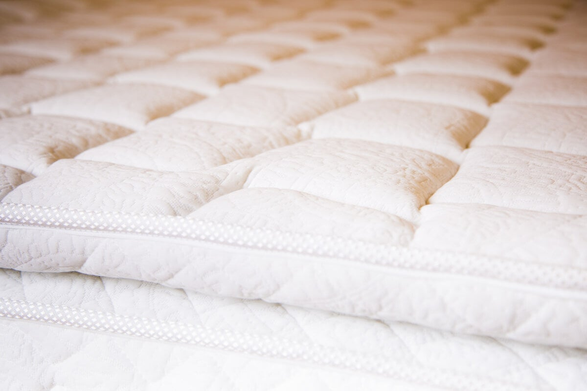 Primer plano de colchón