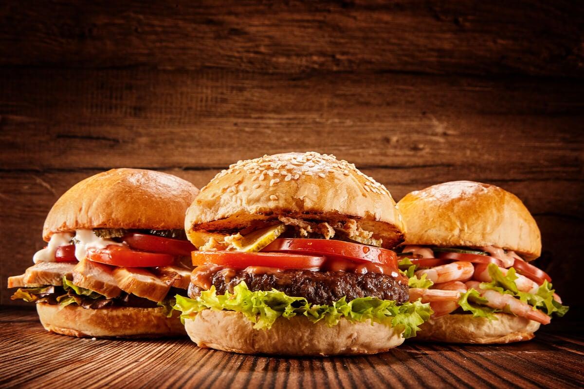 Hamburguesas de comida rápida