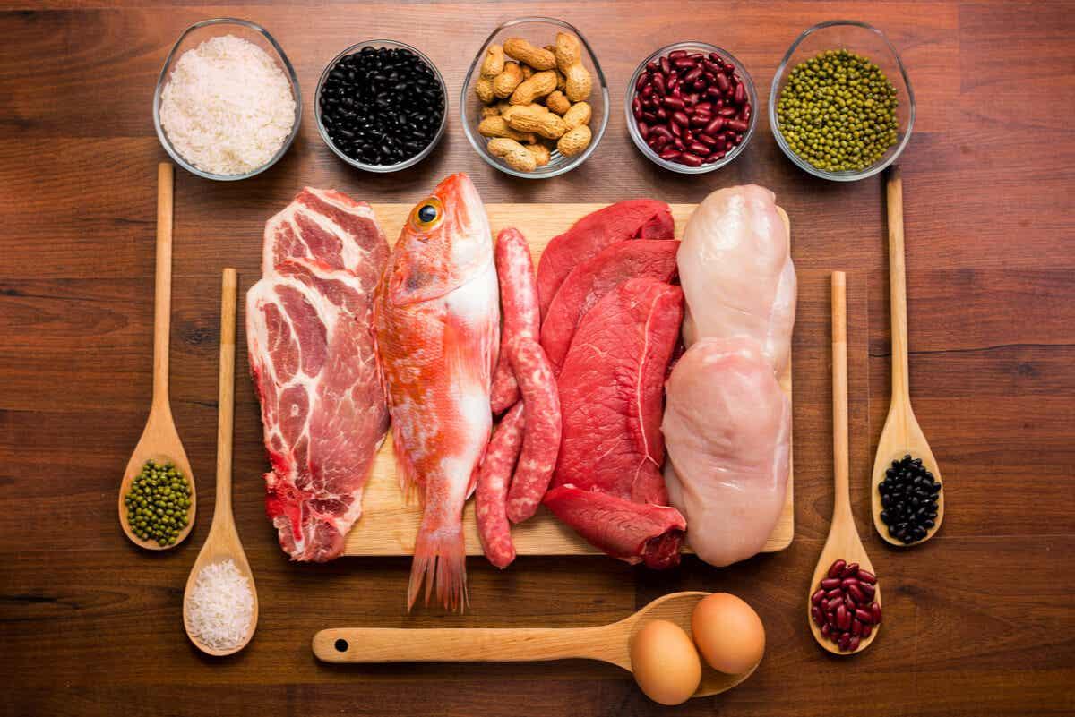 Alimentos con proteínas.