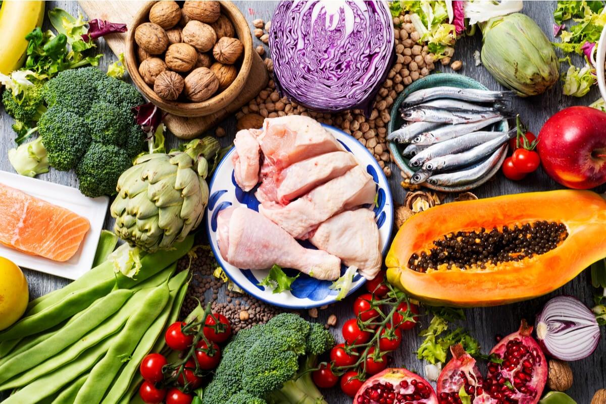 Alimentos de la dieta flexitariana.