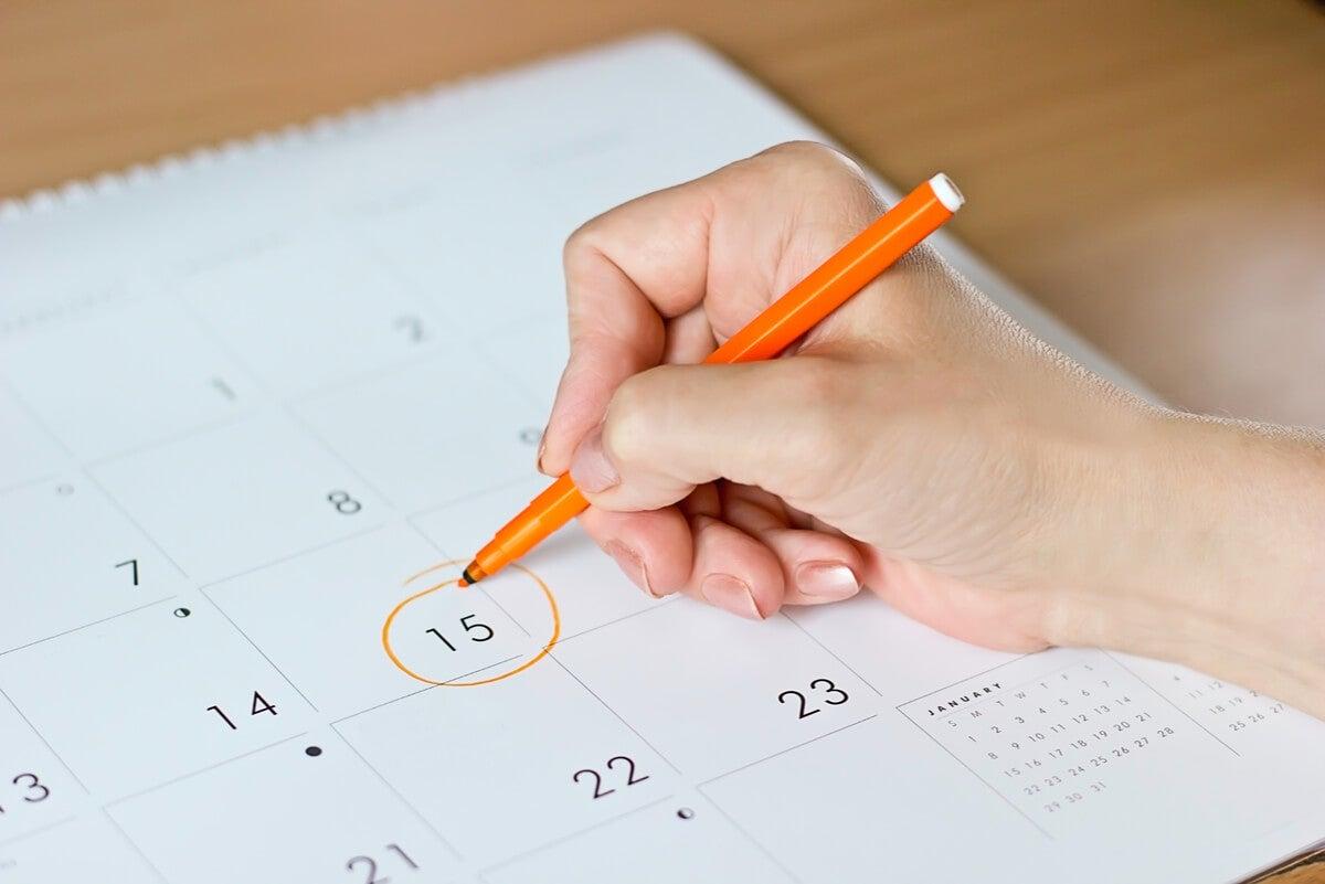Calendario menstrual y sincronización del período.