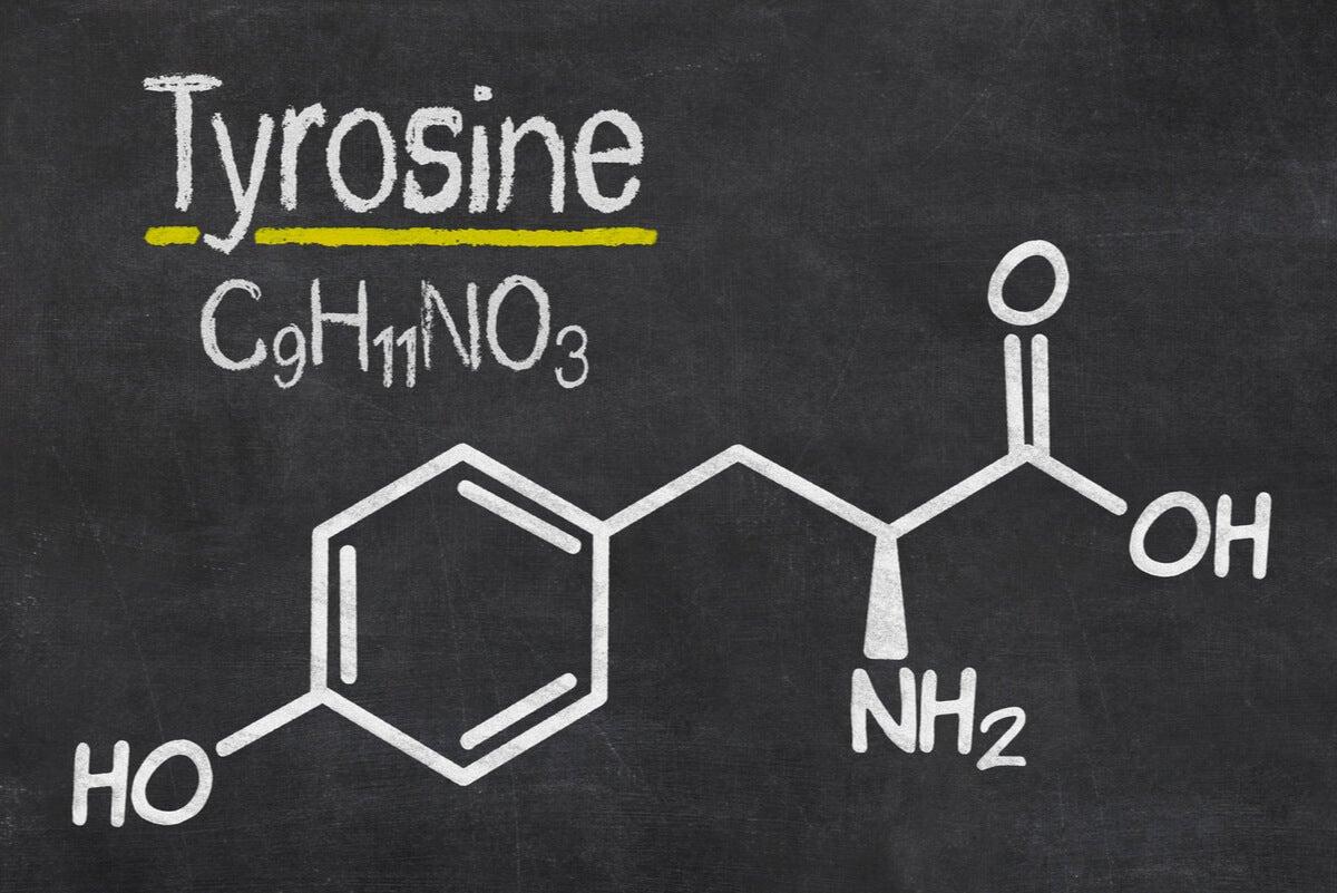 Fórmula de la tirosina