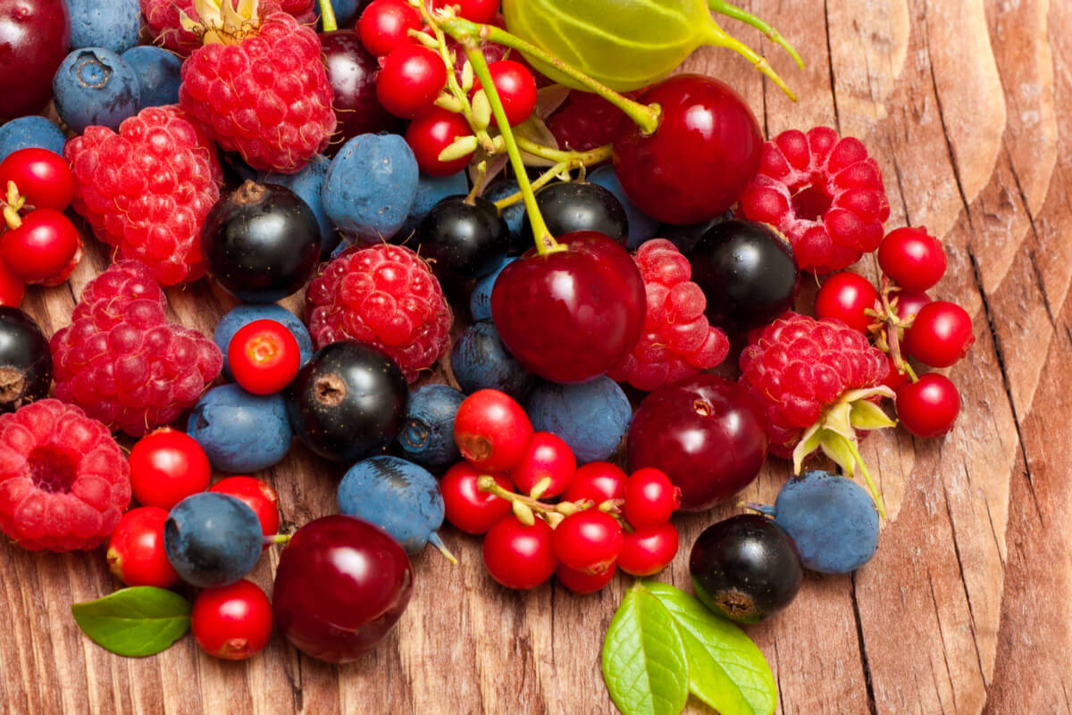Frutos rojos variados.
