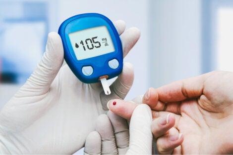 Medición de glucemia en la diabulimia.