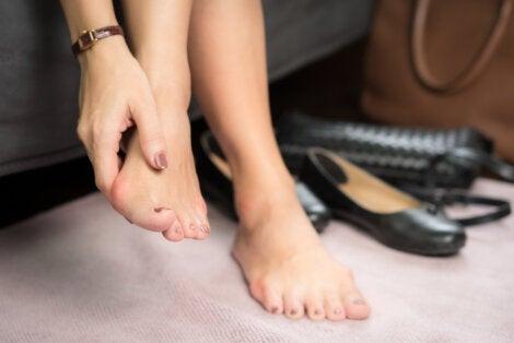 Inflamación en los pies.
