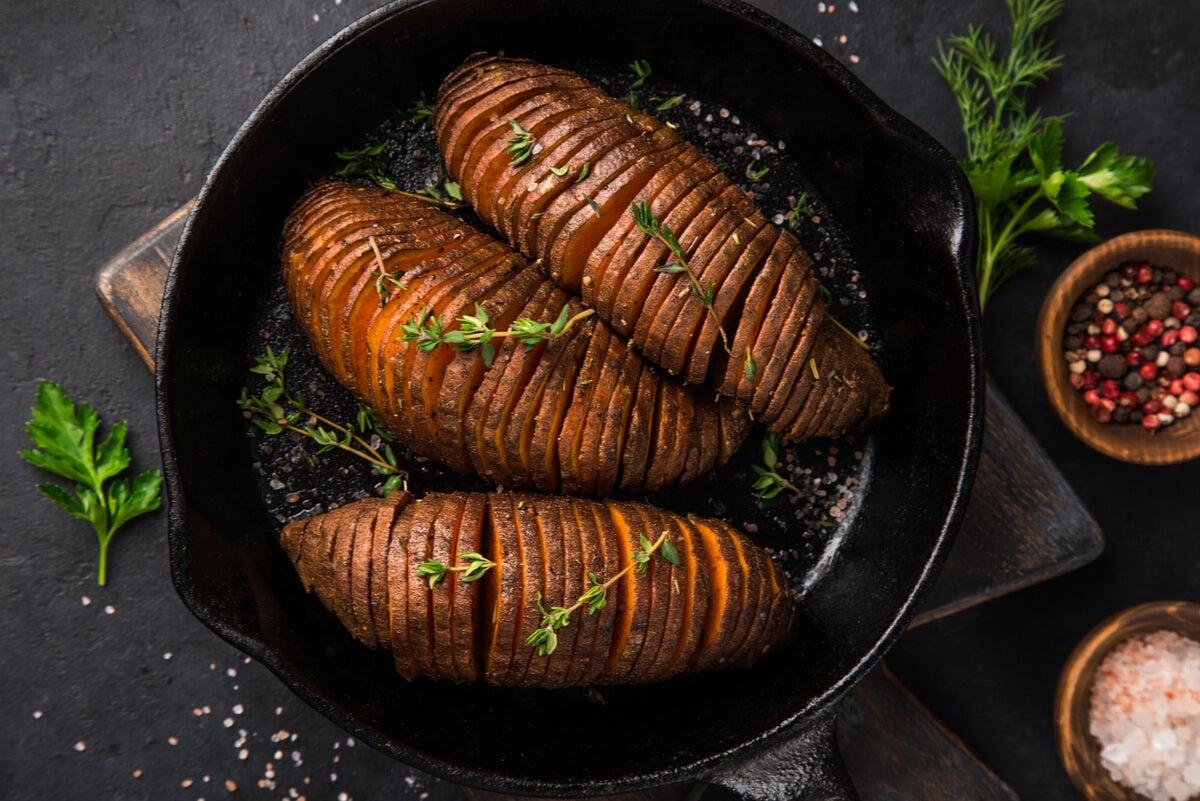Boniato y batatas.