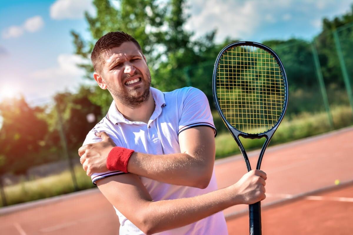 Tendinitis del hombro en tenista