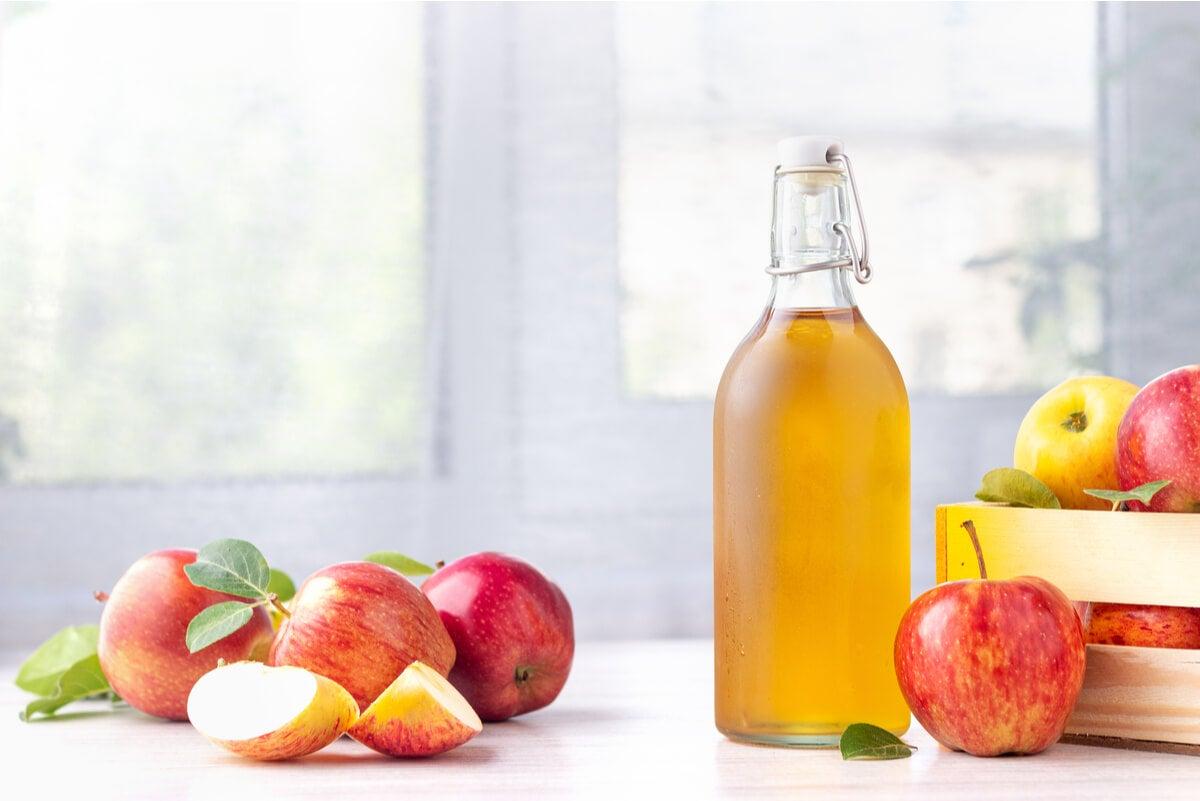 Vinagre de manzana para la piel.