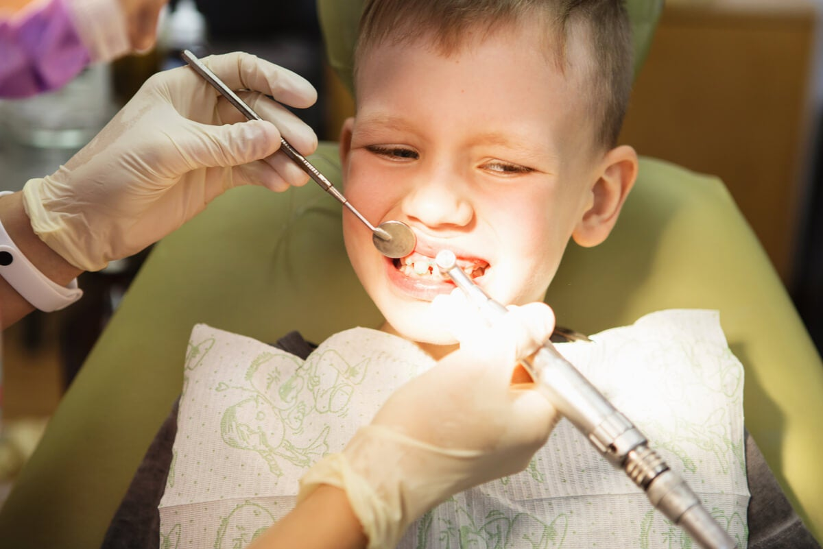 Atención odontológica pediátrica.