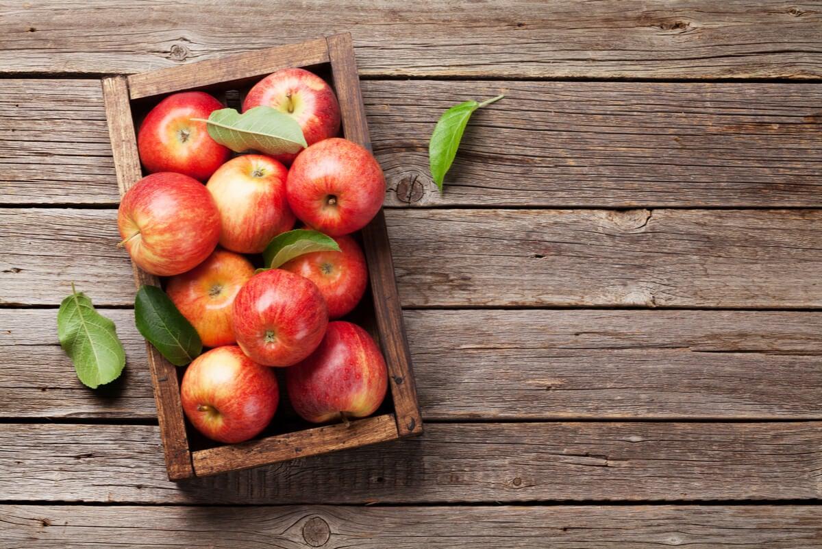 Manzanas con índice glucémico bajo.