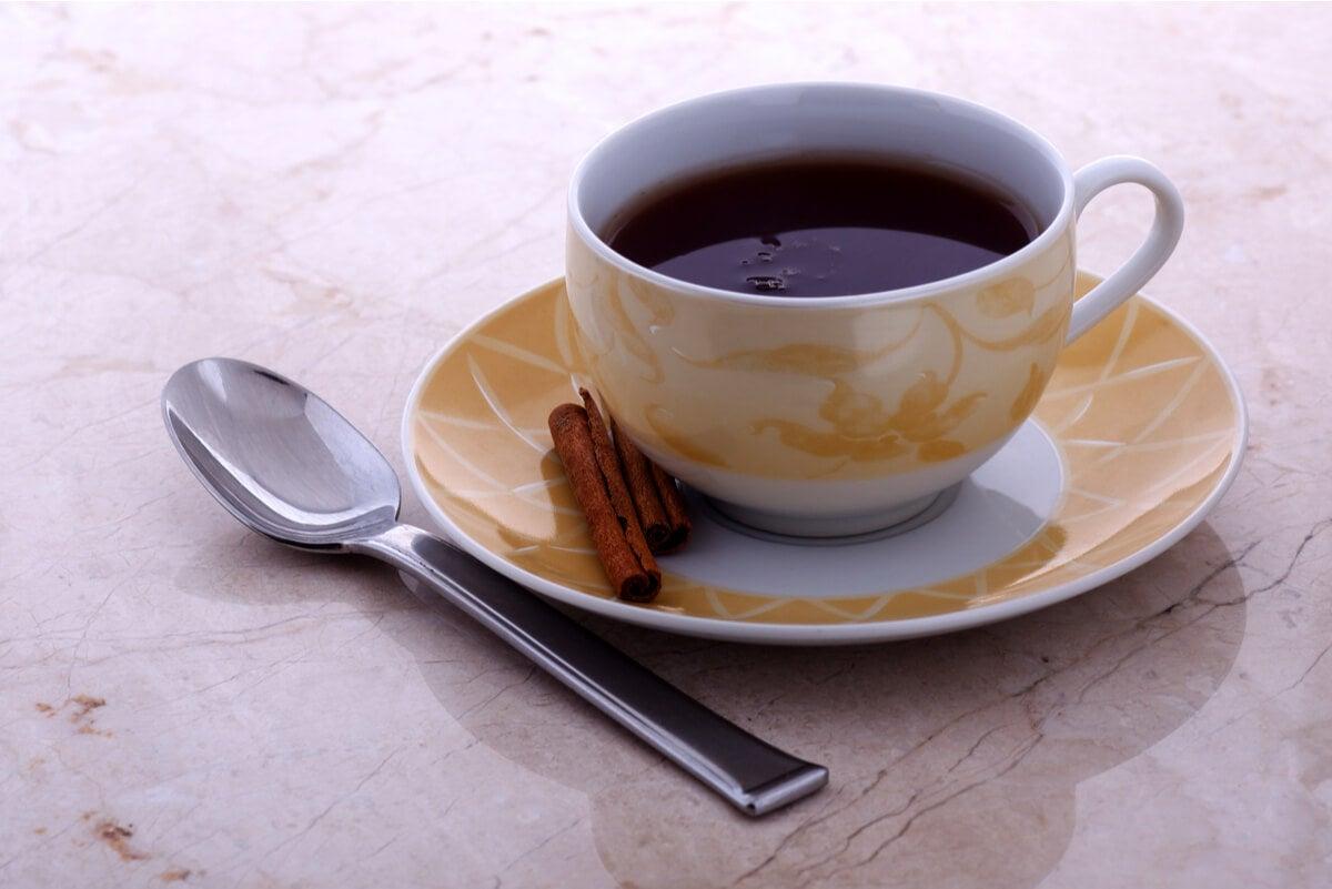 Canela preparada como té.