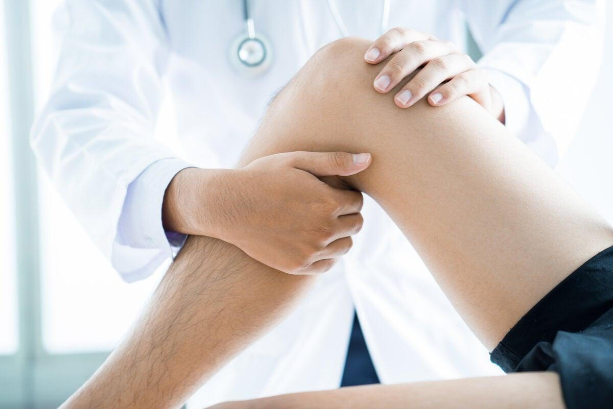 Fisioterapia de rodilla.