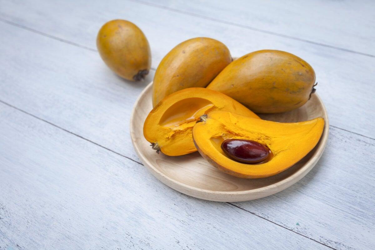 Fruta tropical exótica.