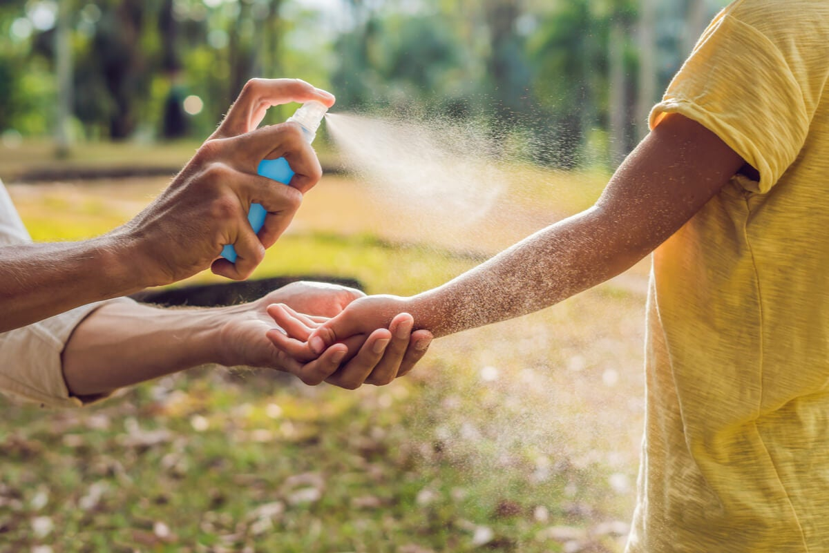 Repelente para prevenir el dengue.