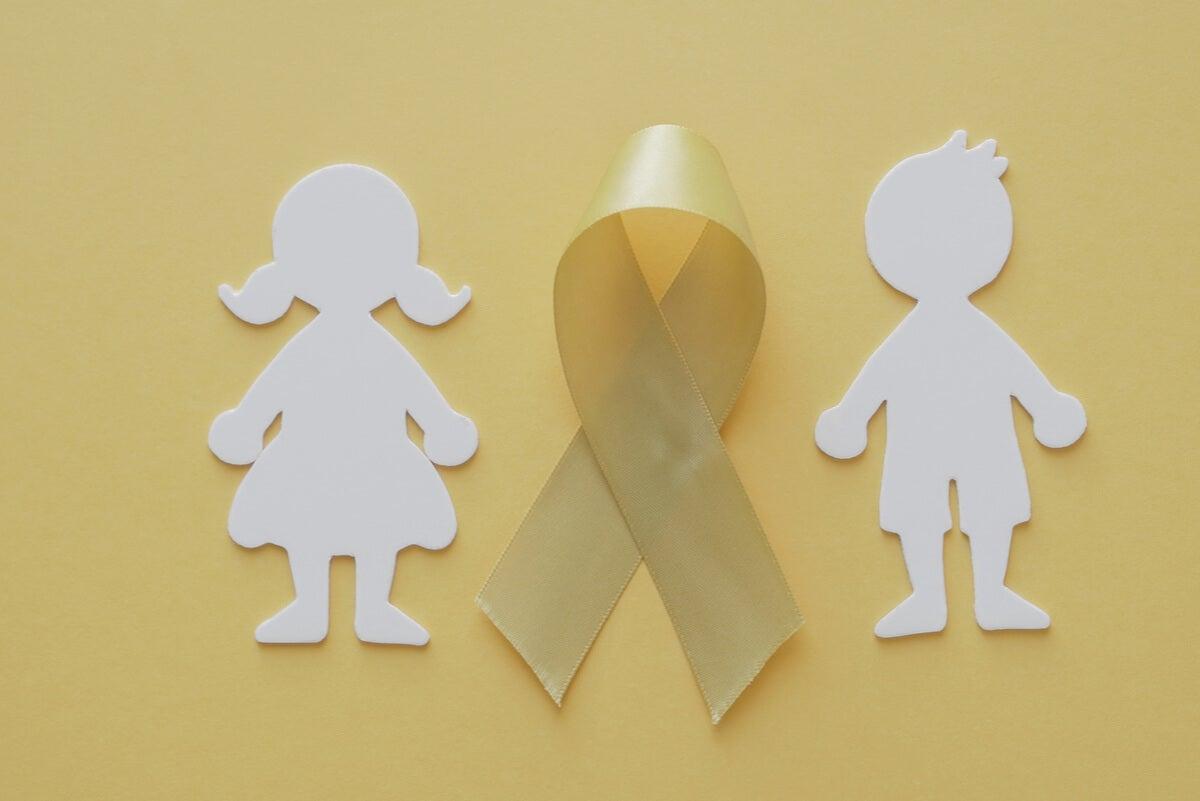 Lazo amarilla por el sarcoma en los niños.