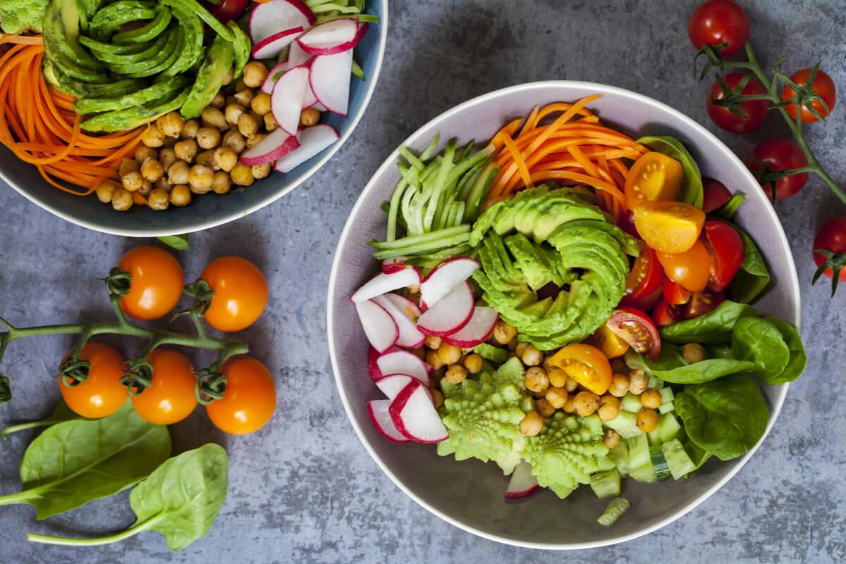 Vegetales en la dieta.