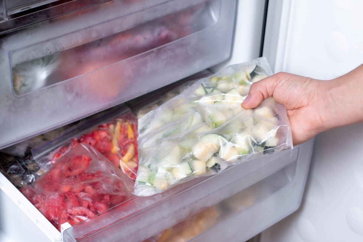 Vegetales congelados.