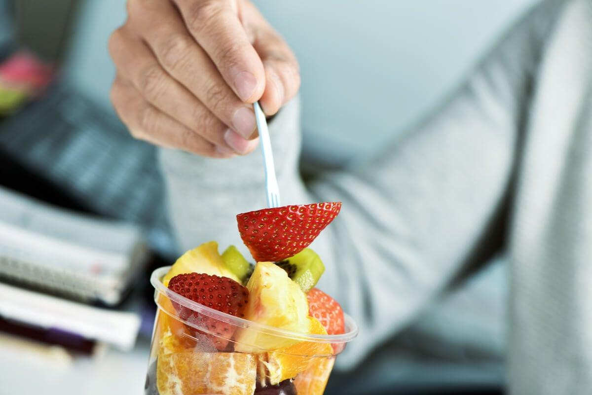 Frutas en el desayuno.