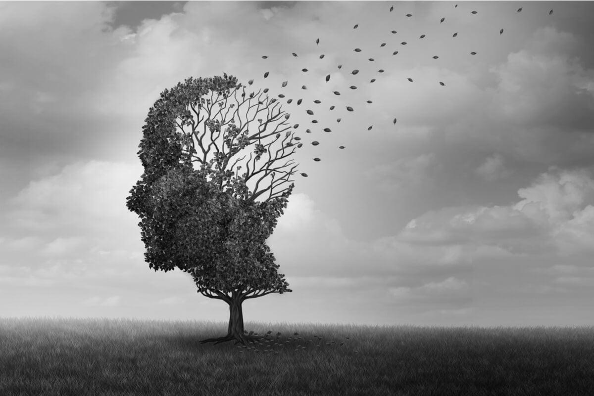 Concepto de amnesia.