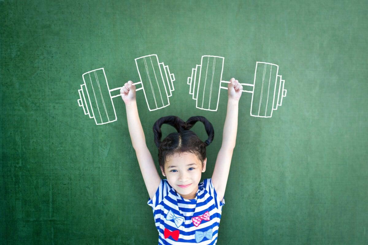 Concepto de fuerza muscular en niños.