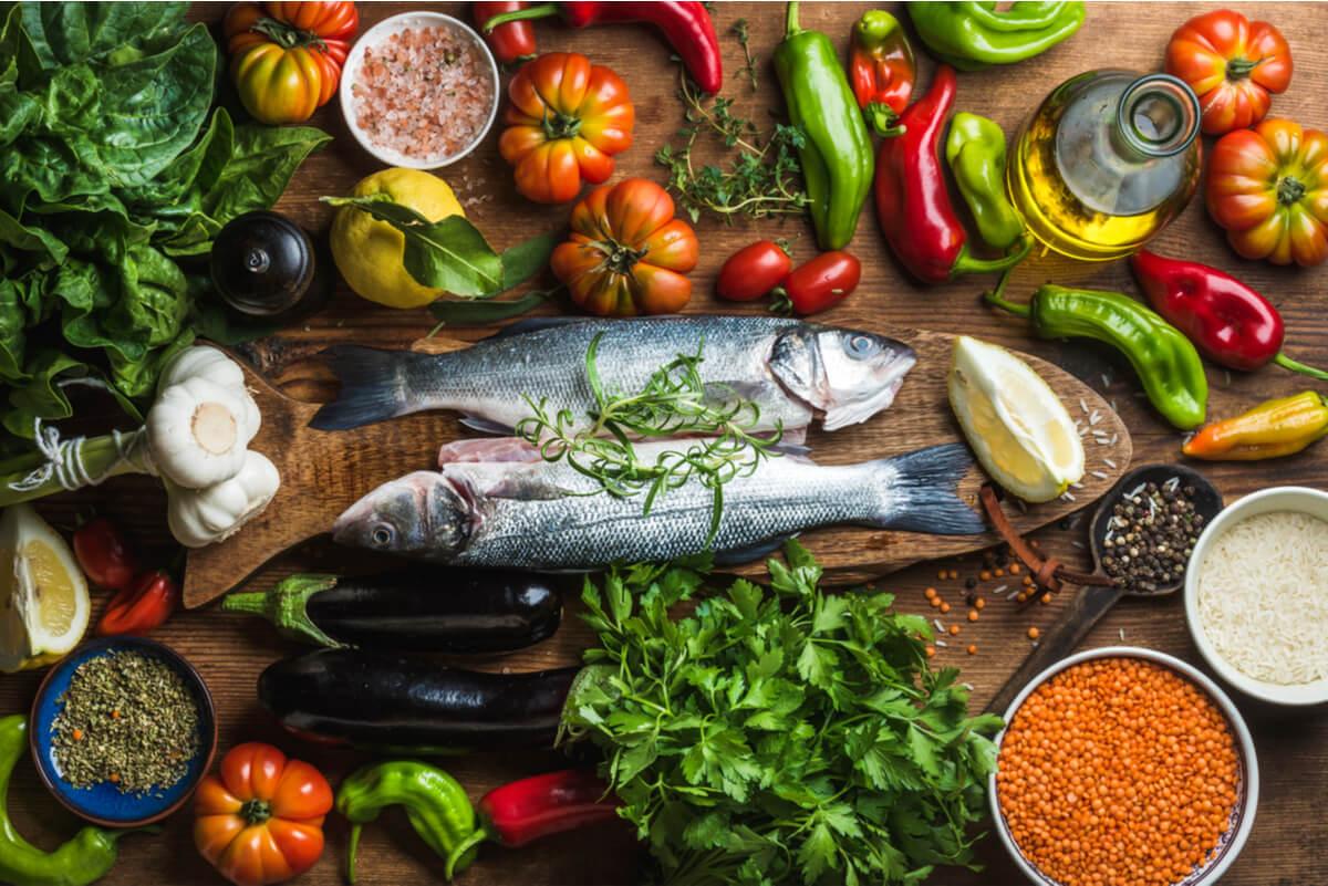Dieta mediterránea y sus componentes.