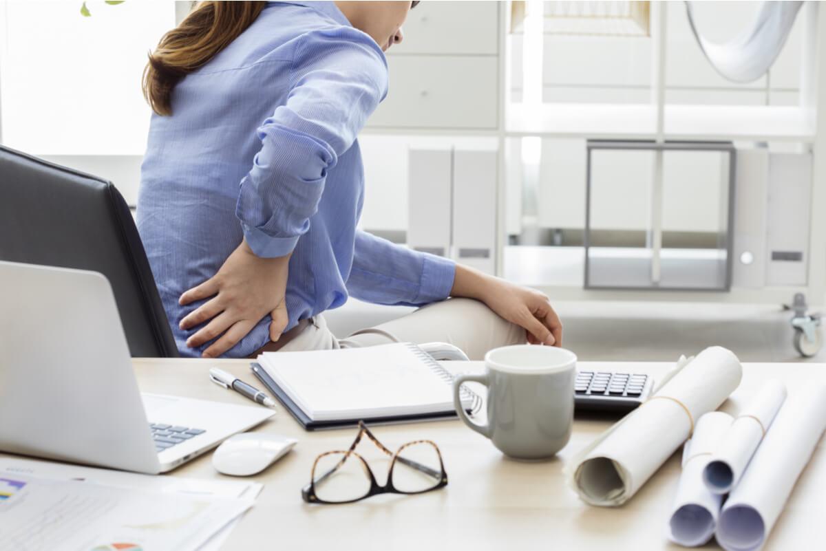 Dolor de espalda en el trabajo.