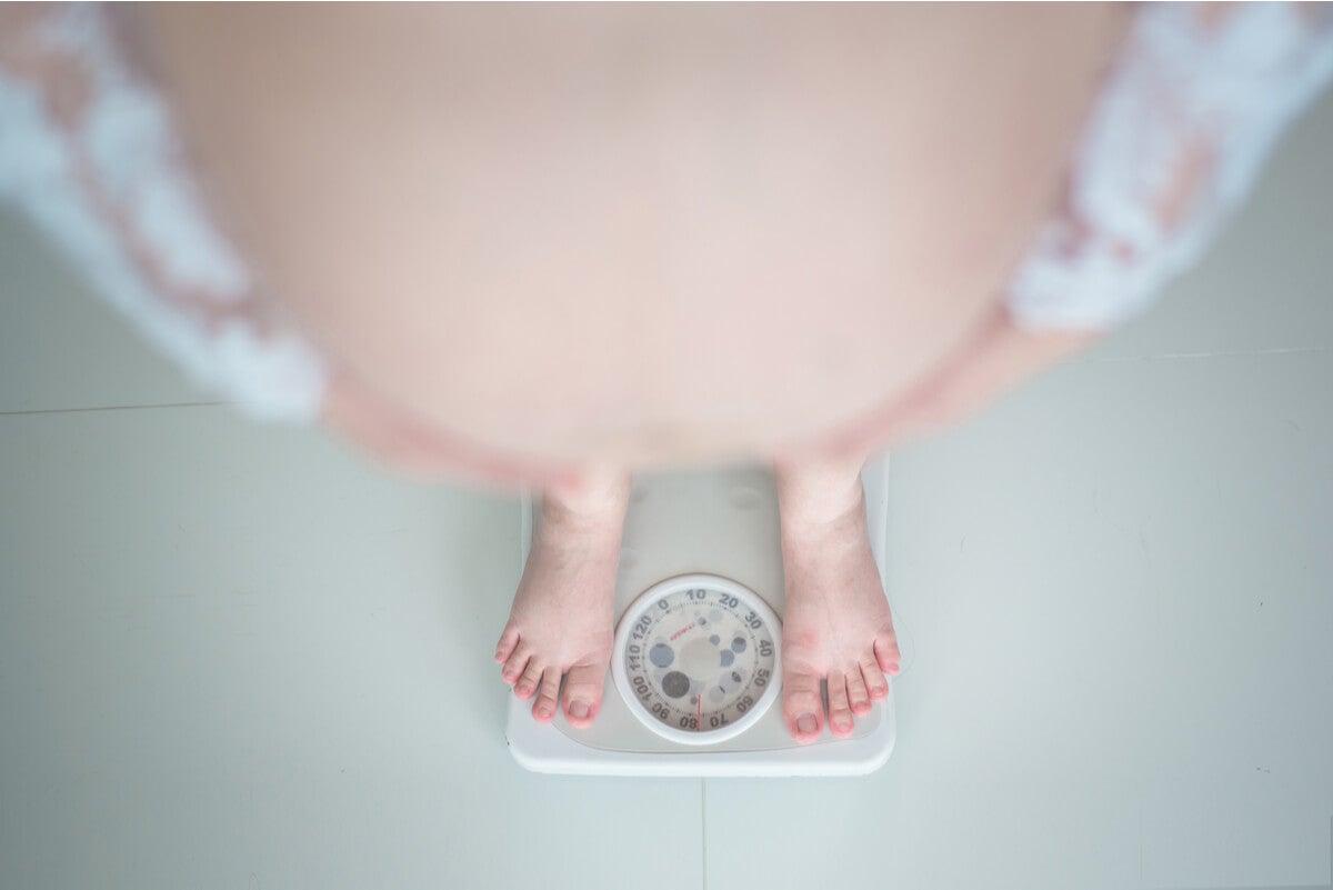 Embarazada con sobrepeso.