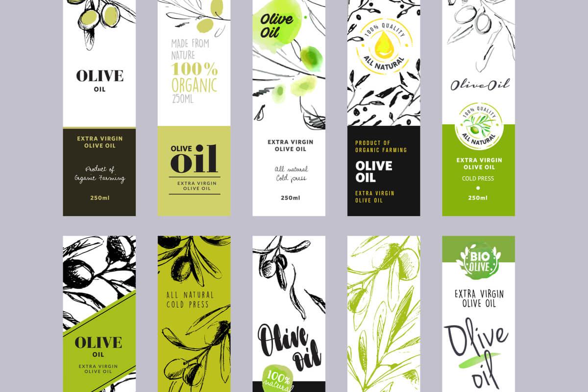 Etiquetado del aceite de oliva.