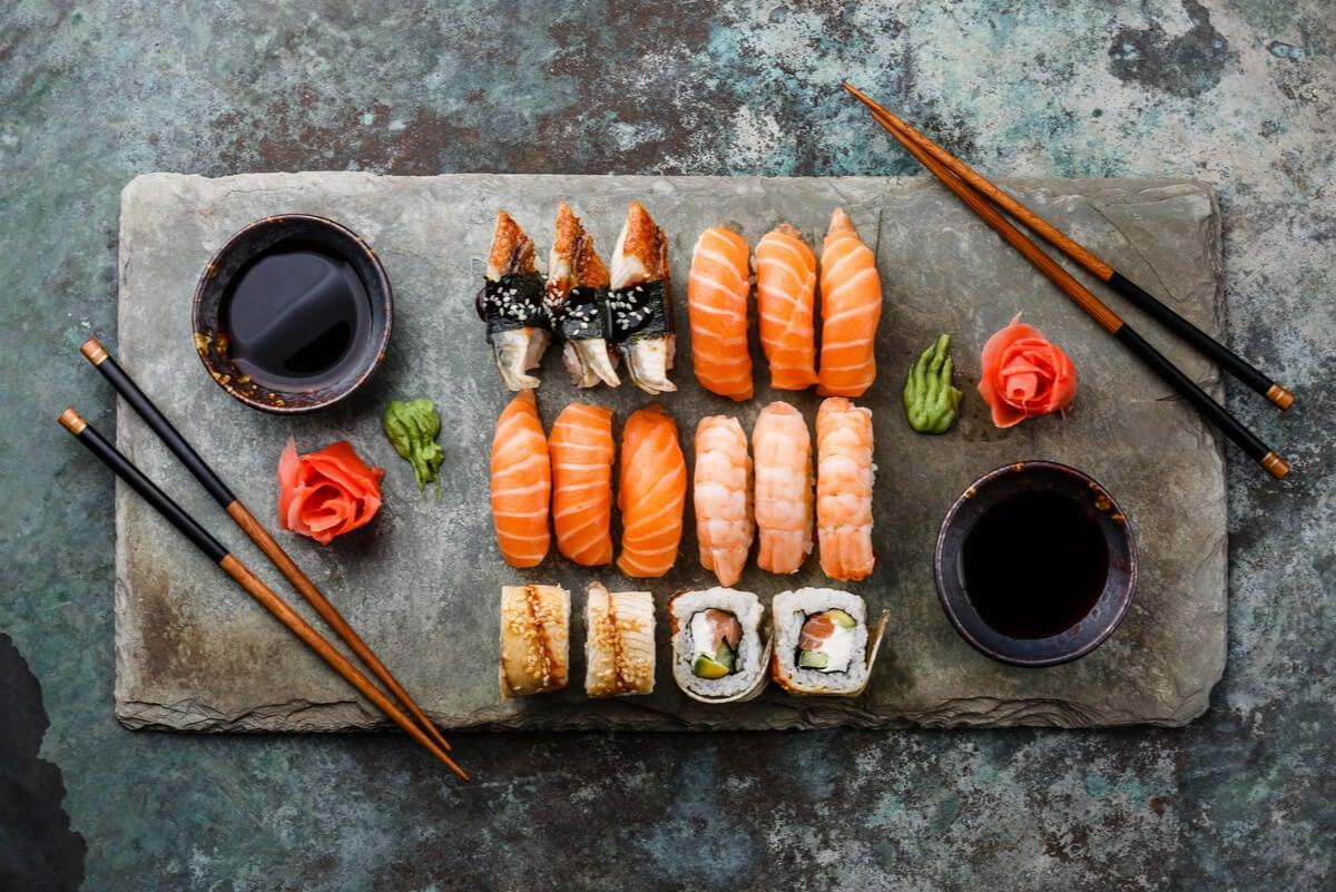 Ingredientes del sushi.