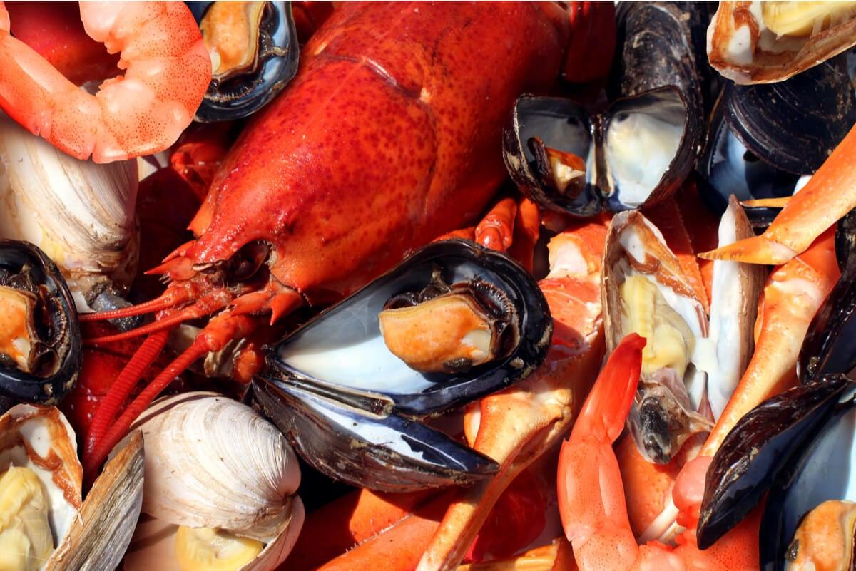 Mariscos y frutos de mar.