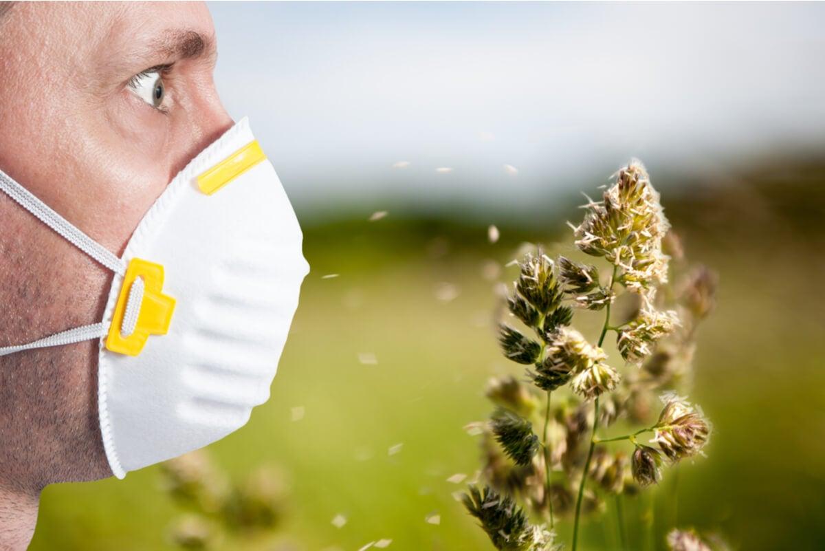 Mascarilla frente al polen.