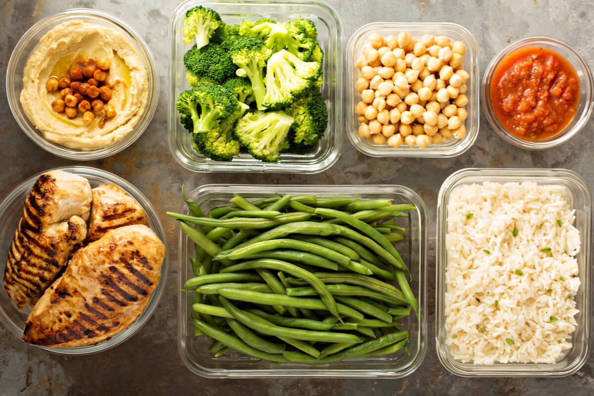 Verduras para el meal prep.
