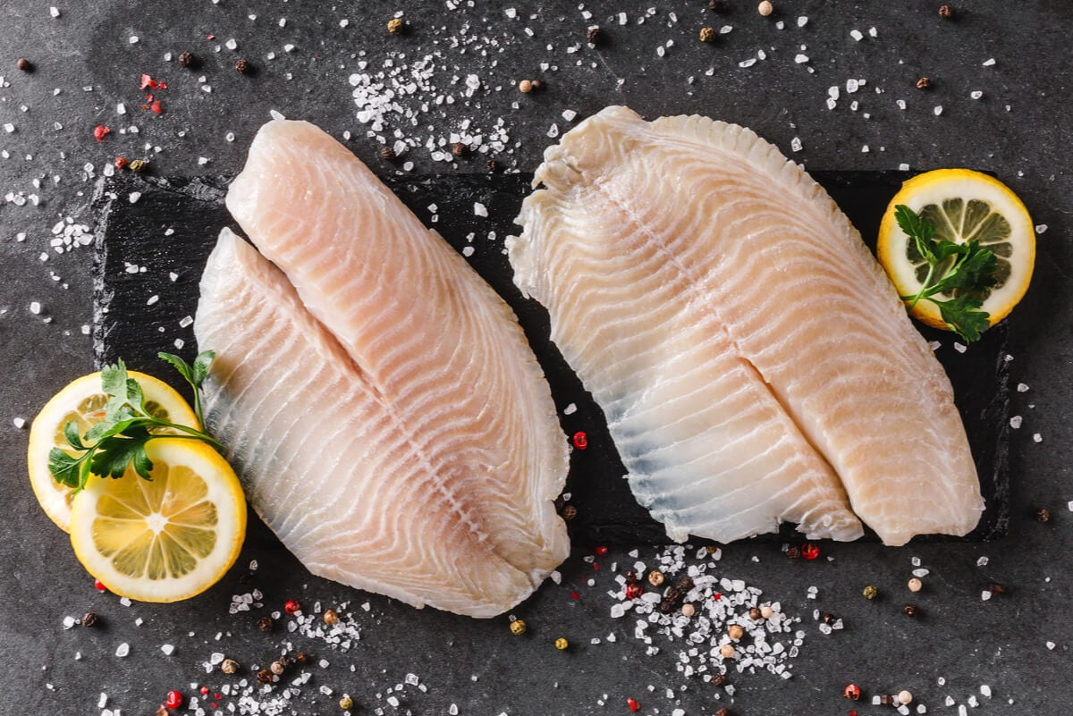 Cocina de pescado blanco.